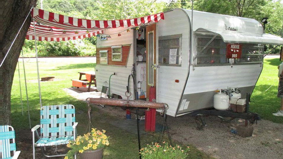 vintage trailer awnings by pink flamingo awnings